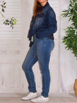 Veste en jean, marque Zizzi 484