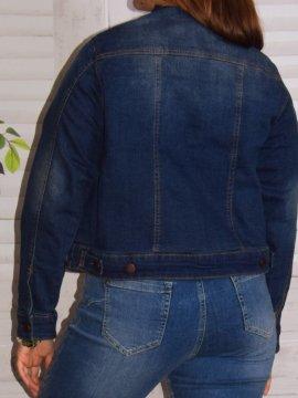 Veste en jean, marque Zizzi 154