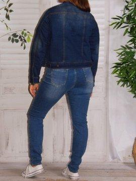 Veste en jean, marque Zizzi 186