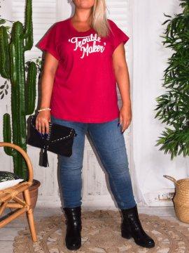 T-shirt Trouble Maker, grande taille, marque Zizzi 515