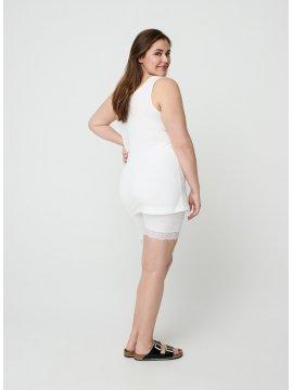 Shorty blanc dentelle, marque Zizzi profil