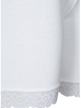 Shorty blanc dentelle, marque Zizzi zoom