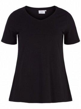 T-shirt l'indispensable, marque Zizzi noir face