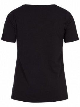 T-shirt l'indispensable, marque Zizzi noir dos