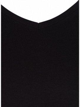 T-shirt l'indispensable, marque Zizzi noir zoom col