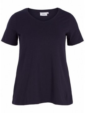 T-shirt l'indispensable, marque Zizzi marine face
