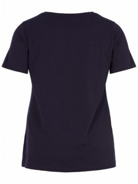 T-shirt l'indispensable, marque Zizzi marine dos