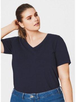 T-shirt l'indispensable, marque Zizzi marine zoom