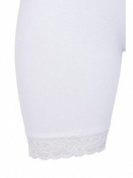 Shorty blanc dentelle, marque Zizzi zoom profil