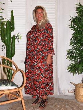 Robe longue imprimé fleuri grande taille Zizzi