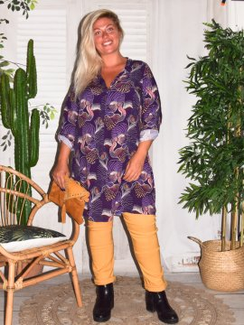 Justine, robe tunique grande taille